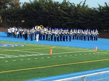 SSFHS Marching Band & Guard at the Bell Game Half-Time
