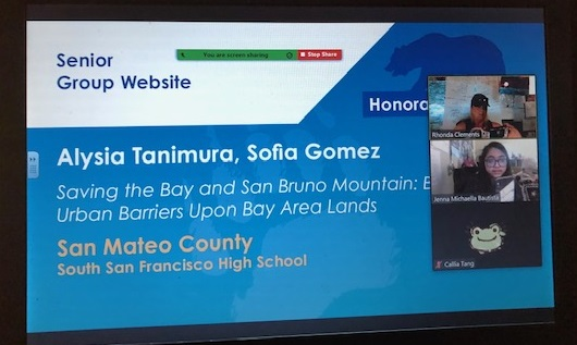 Honorable Mention for Alysia Tanimura and Sofia Gomez